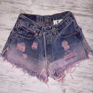levi's dyed denim shorts